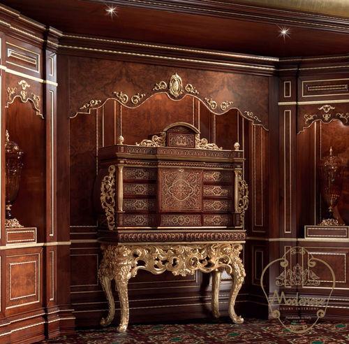 credenza con piedi alti / in stile / in legno massiccio / per hotel