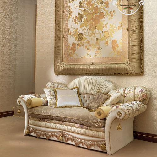 divano in stile / in tessuto / per hotel / 2 posti