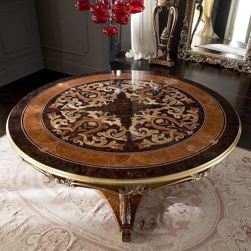 tavolo in stile / in legno / tondo