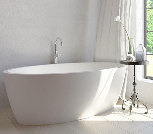 vasca da bagno da appoggio / ovale / in resina / in quarzo