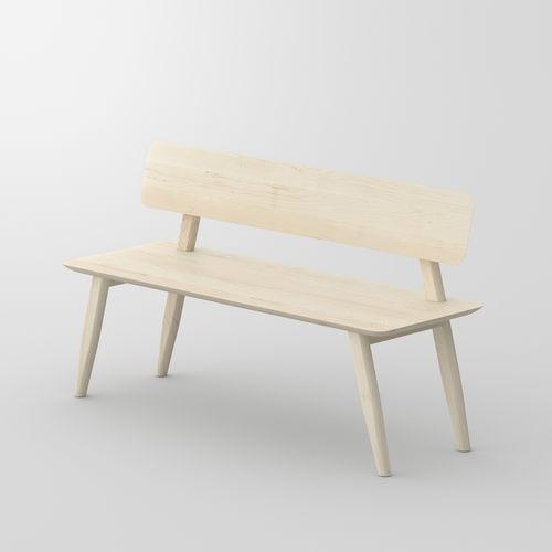 panca moderna / in legno massiccio / con schienale