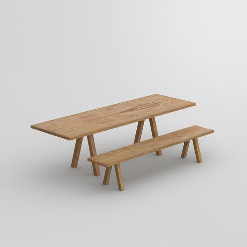 panca design / in quercia / in legno massiccio / in noce