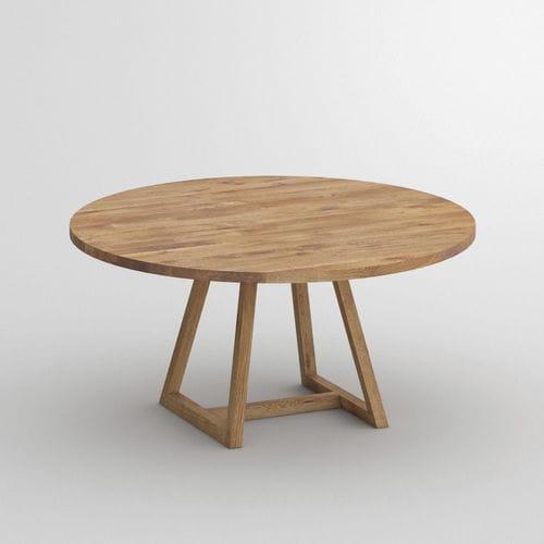 Tavolo Da Pranzo Moderno Margo Vitamin Design In Legno Con Supporto In Legno Rotondo