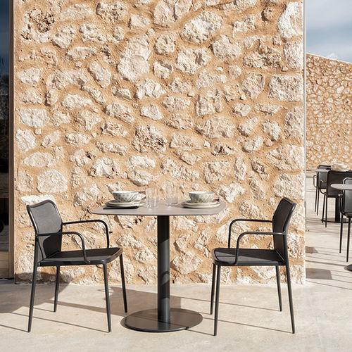 tavolo da bistrot moderno / in HPL / in alluminio / in porcellana