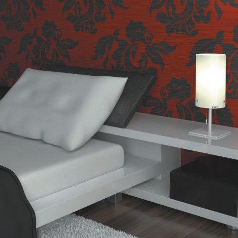 lampada da tavolo / moderna / in metallo / in vetro soffiato