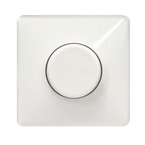dimmer per illuminazione / a pulsante rotante / ad incasso / in plastica