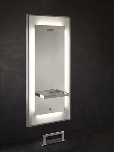 mobile da toeletta moderno / in acciaio inossidabile / in Plexiglas® / da parete