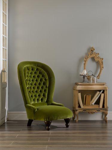 poltrona classica / in velluto / con schienale alto / verde