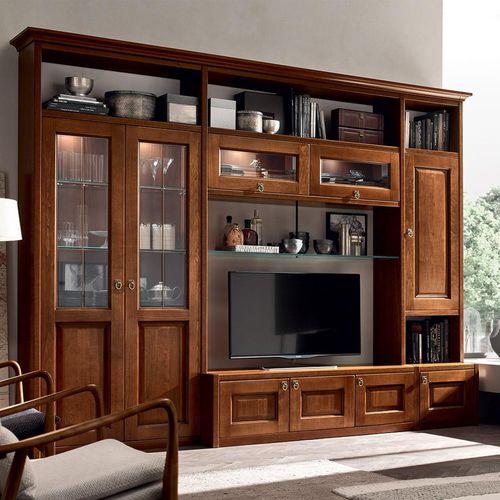 parete attrezzata TV classico / in legno