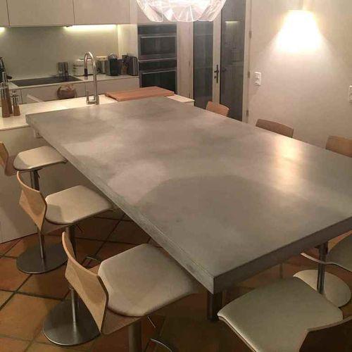 tavolo da pranzo moderno / in calcestruzzo HUP Ductal© / rettangolare