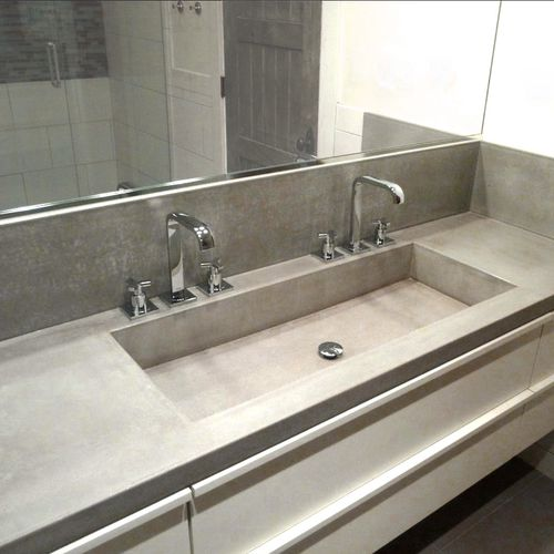 piano lavabo in calcestruzzo HUP Ductal©