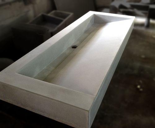 lavabo da appoggio / rettangolare / in calcestruzzo HUP Ductal© / moderno