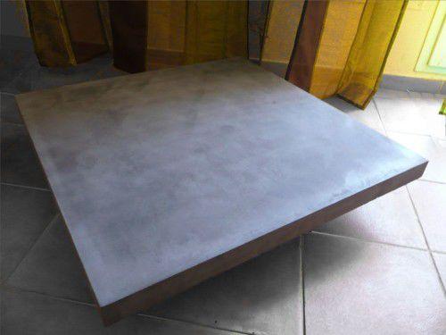 tavolino basso moderno / in legno / in calcestruzzo HUP Ductal© / quadrato