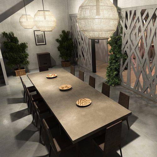 tavolo da riunione moderno / in calcestruzzo HUP Ductal© / rettangolare / per edifici pubblici
