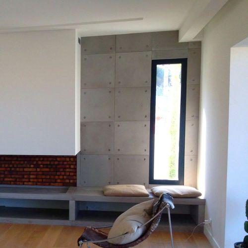 rivestimento murale in calcestruzzo HUP Ductal© / per uso residenziale / opaco / aspetto cemento
