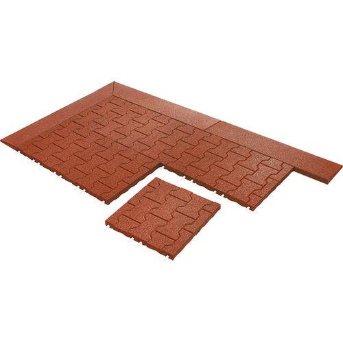 piastrella da esterno / da pavimento / in gomma riciclata / grigia