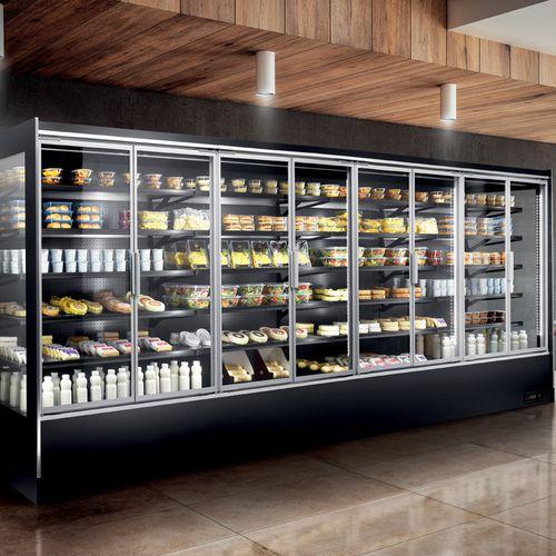 vetrina refrigerata con scaffali - frigomeccanica