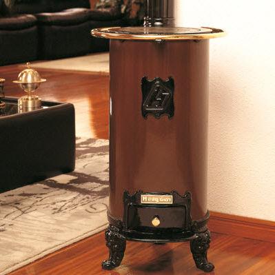 stufa a legna / in acciaio / tradizionale / 10 kW...20 kW