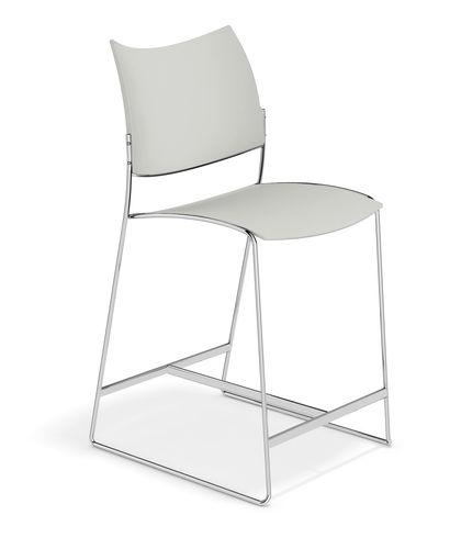 sedia alta moderna / imbottita / con poggiapiedi / a slitta
