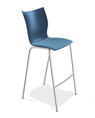 sedia alta moderna / imbottita / 100% riciclabile / in tessuto