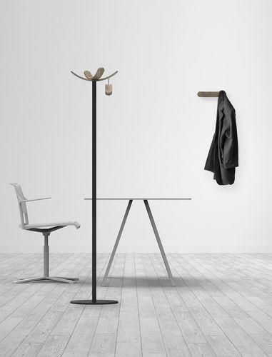 appendiabiti da terra / moderno / in metallo / in legno