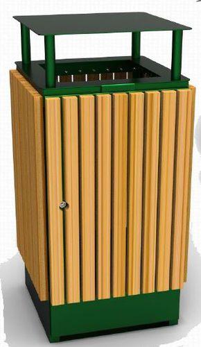 pattumiera pubblica / in acciaio / in legno / contract