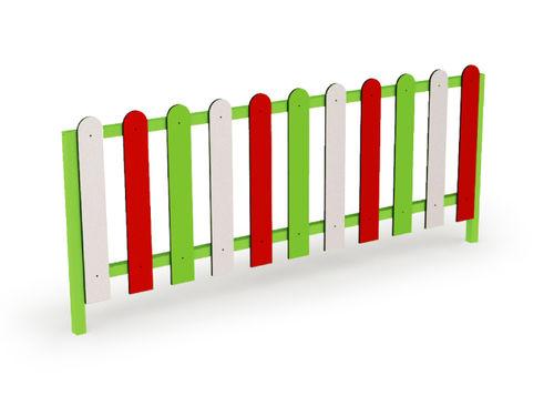 recinzione per parco giochi / a lamelle / in acciaio / modulare