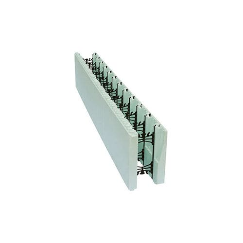 blocco cassero in polistirene / per muro / isolante / d'angolo