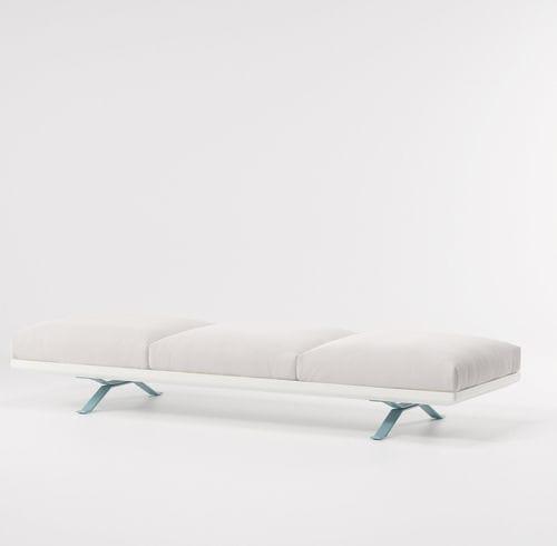 divanetto imbottito moderno / in tessuto / in acciaio / in alluminio