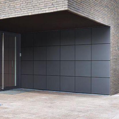porta sezionale per garage / in alluminio / automatica