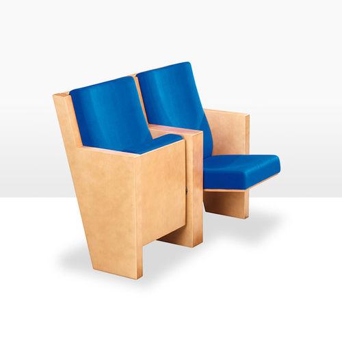 poltrona per auditorium moderna / in tessuto / con tavoletta