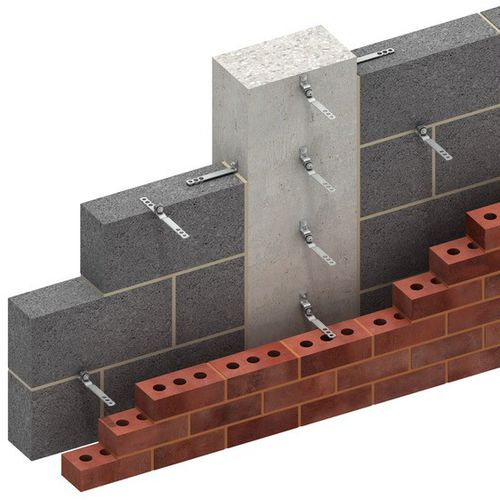 sistema di fissaggio in metallo / per rivestimento di facciata / per facciata ventilata / per esterni