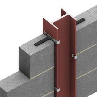 sistema di fissaggio in acciaio / per rivestimento di facciata
