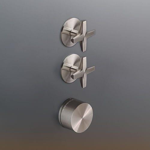 miscelatore da doccia / da parete / in acciaio inox / termostatico