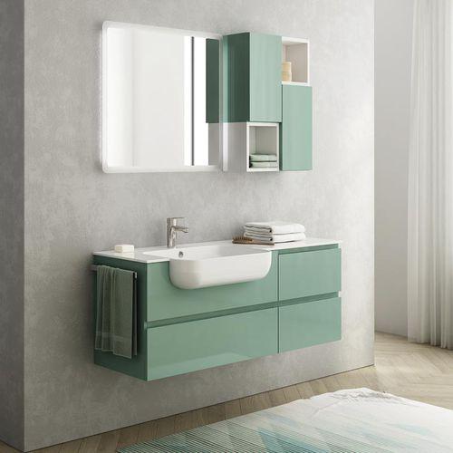 mobile lavabo sospeso / in legno / in resina / moderno