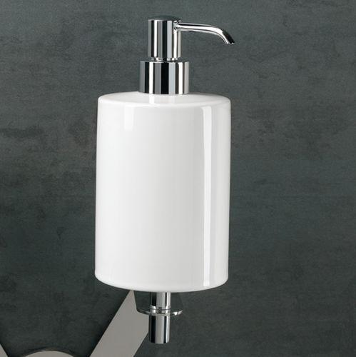distributore di sapone contract / da parete / in ceramica / manuale