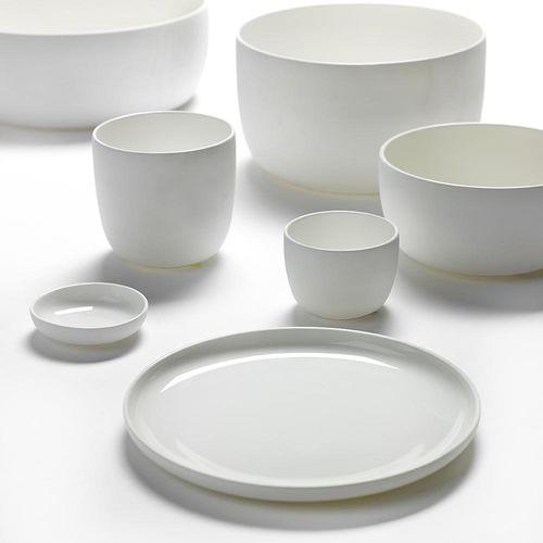 piatto piatto / tondo / in porcellana / per uso domestico