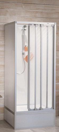 box doccia in acrilico / d'angolo / con porta scorrevole