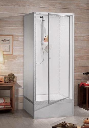box doccia in acrilico / quadrato / con porta pivotante