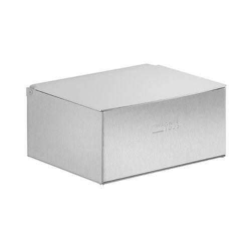 distributore di carta igienica sporgente / in acciaio inossidabile / contract