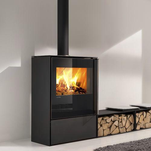 stufa a legna / in steatite / moderna / 9 kW