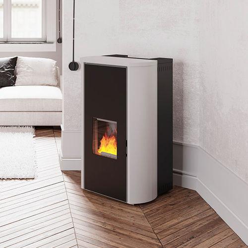 stufa-caldaia a pellet / multicombustibile / in acciaio / moderna
