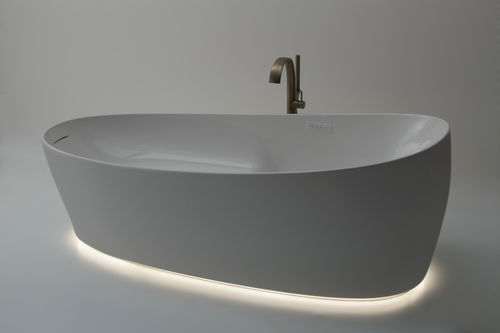 vasca da bagno da appoggio / ovale / in composito / profonda