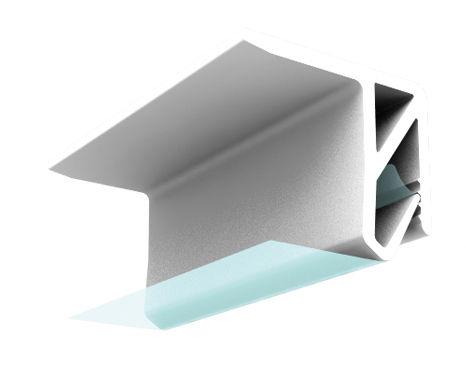 profilato per fissaggio in ABS / per soffitto teso