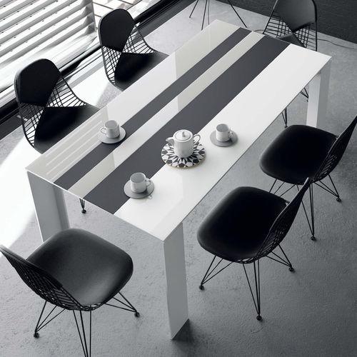 tavolo moderno / in legno / in ceramica / in alluminio
