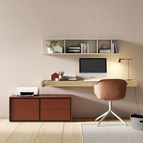 scrivania impiallicciata in legno - VIVE - MUEBLES VERGE S.L.
