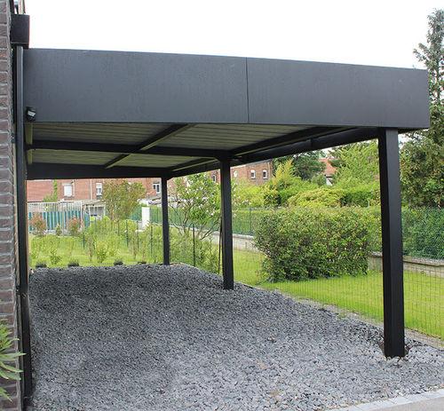 tettoia per posto-auto in legno / in alluminio / prefabbricata