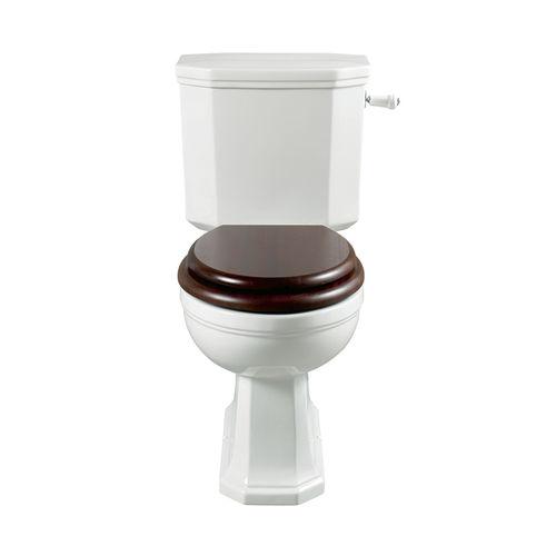 WC monoblocco / in porcellana / con maniglia a leva