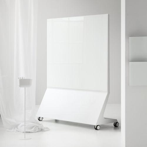 tabellone magnetico / nero / autoportante / in vetro