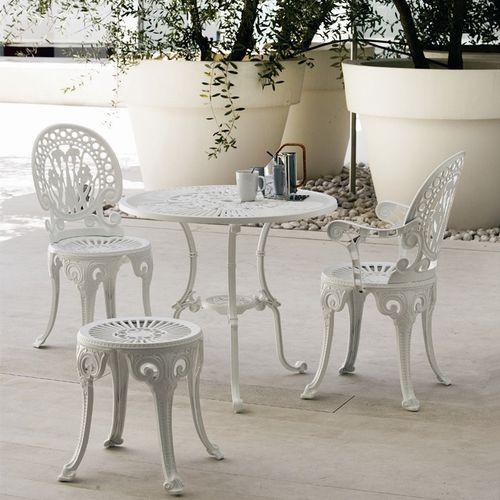 sgabello classico / in alluminio / da giardino
